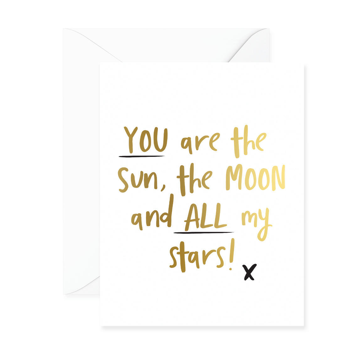 You Are The Sun, The Moon And All My Stars Greeting Card | Trada Marketplace