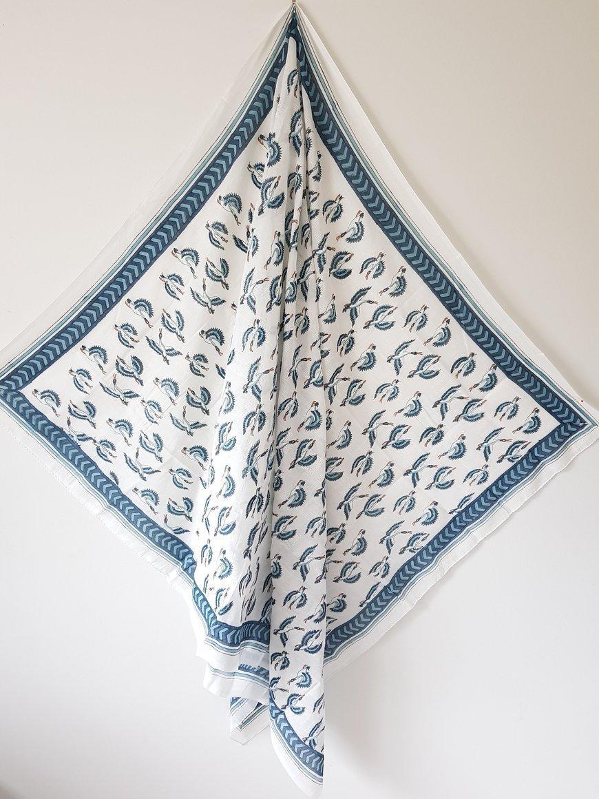 Hand Block Print Cotton Voile Sarong | Trada Marketplace