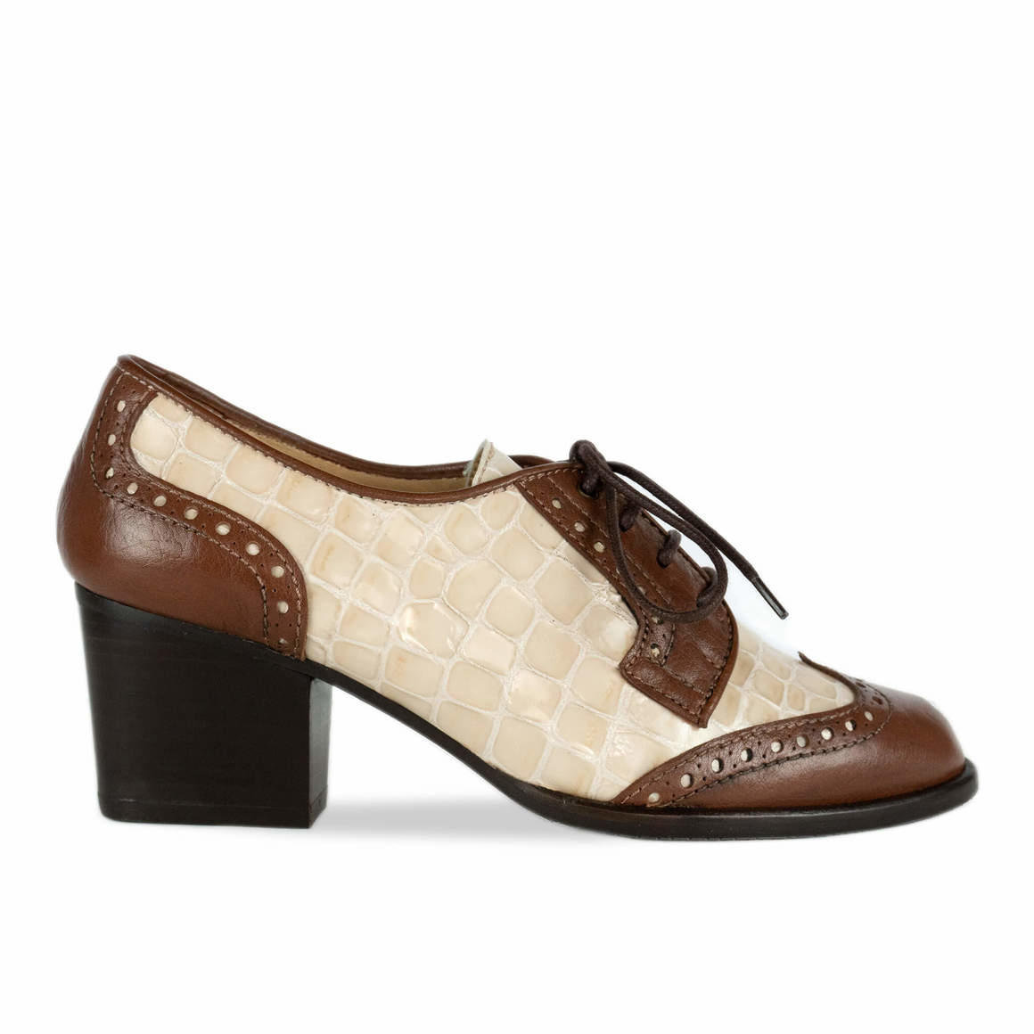Ashley: Two-tone Leather Brogue   Trada Marketplace
