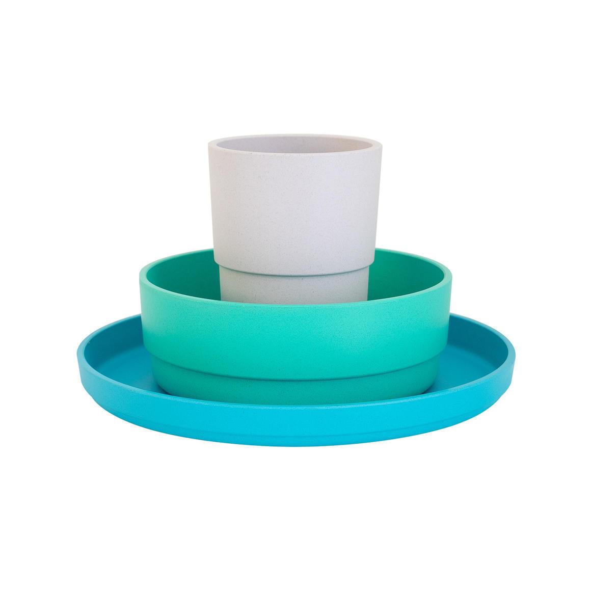 Plant-Based Dinnerware Set - Lagoon   Trada Marketplace