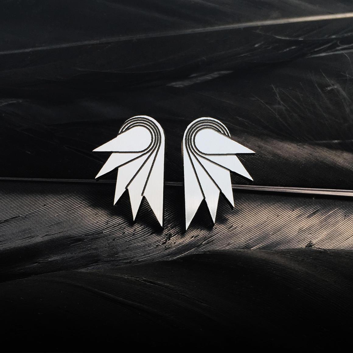 Stud Earrings - MINI SPREAD YOUR WINGS - Silver | Trada Marketplace