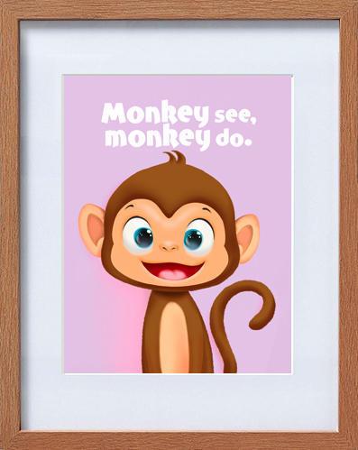 cute monkey frame | Trada Marketplace