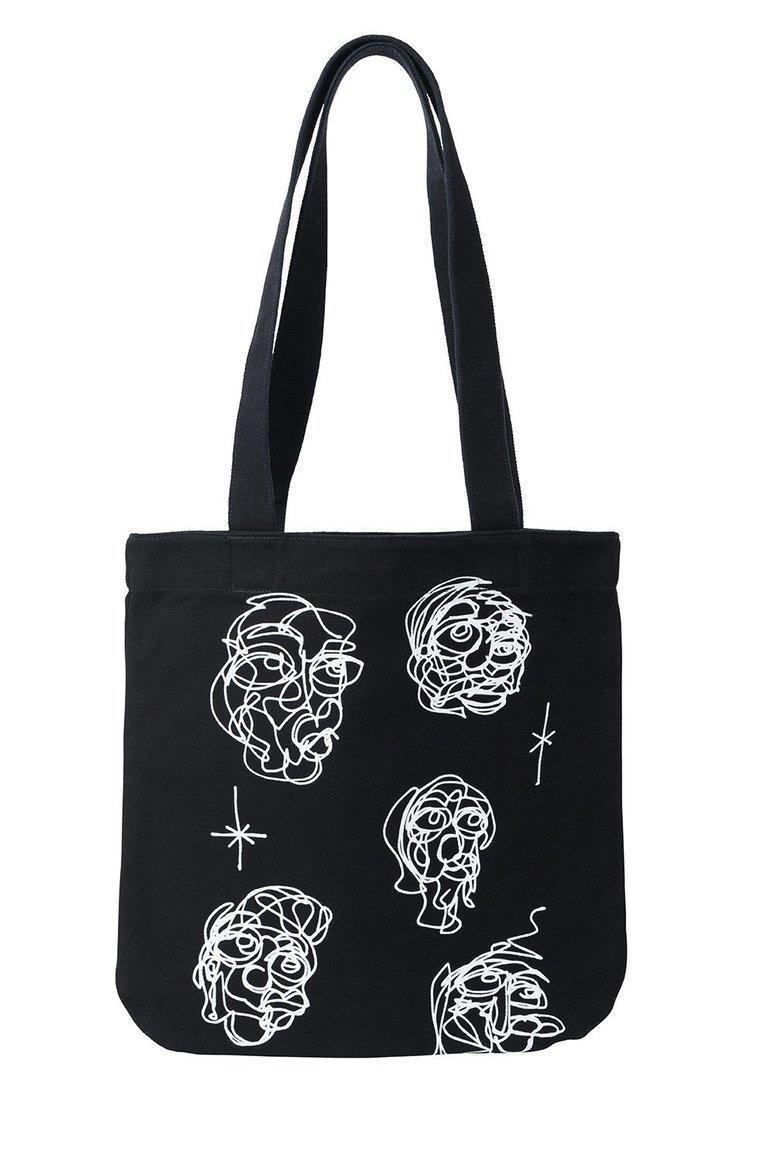 Black  White Heads Tote Bag | Trada Marketplace
