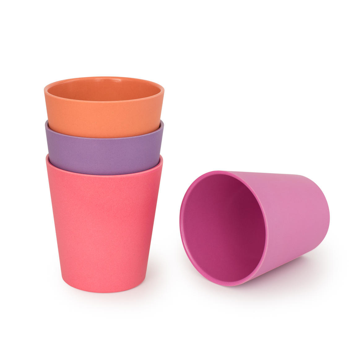 Bamboo 4 Pack Of Cups - Sunset Collection    Trada Marketplace