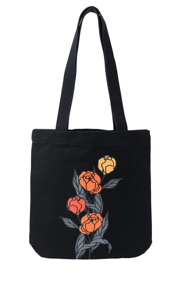 Orange Flowers Tote Bag | Trada Marketplace