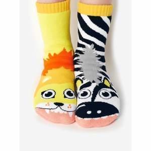 Lion & Zebra Pals   Kids Mismatched Socks   Trada Marketplace