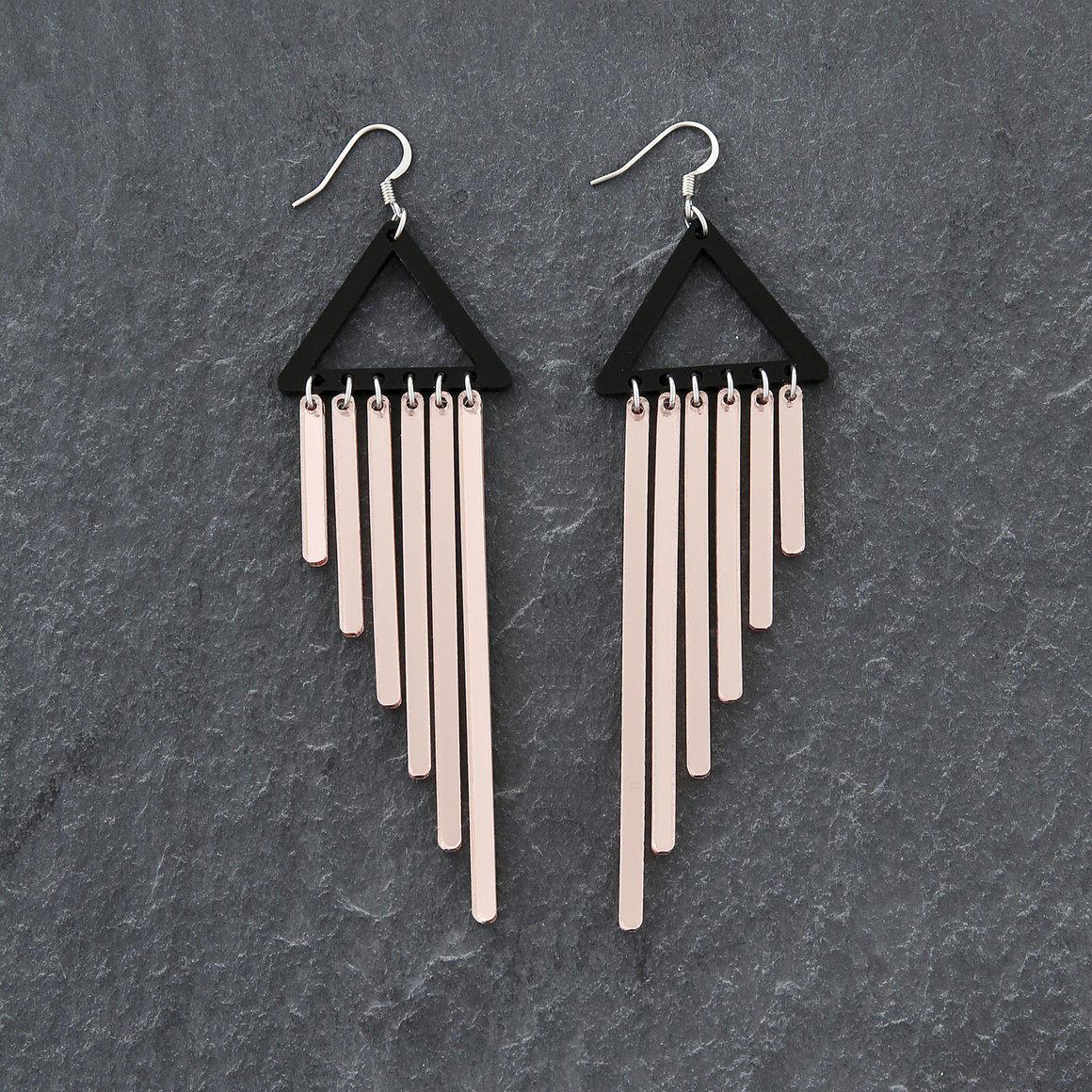 Dangle Earrings - COLOUR POP  CHIMES - Rose Gold  | Trada Marketplace