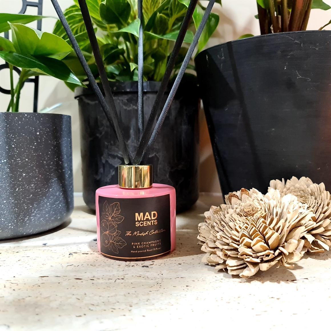 Pink Champagne & Exotic Fruits reed diffuser | Trada Marketplace