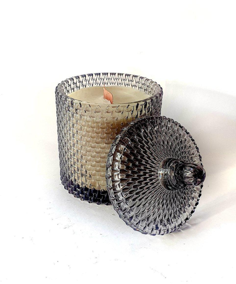 Charcoal Raindrop Woodwick candle | Trada Marketplace