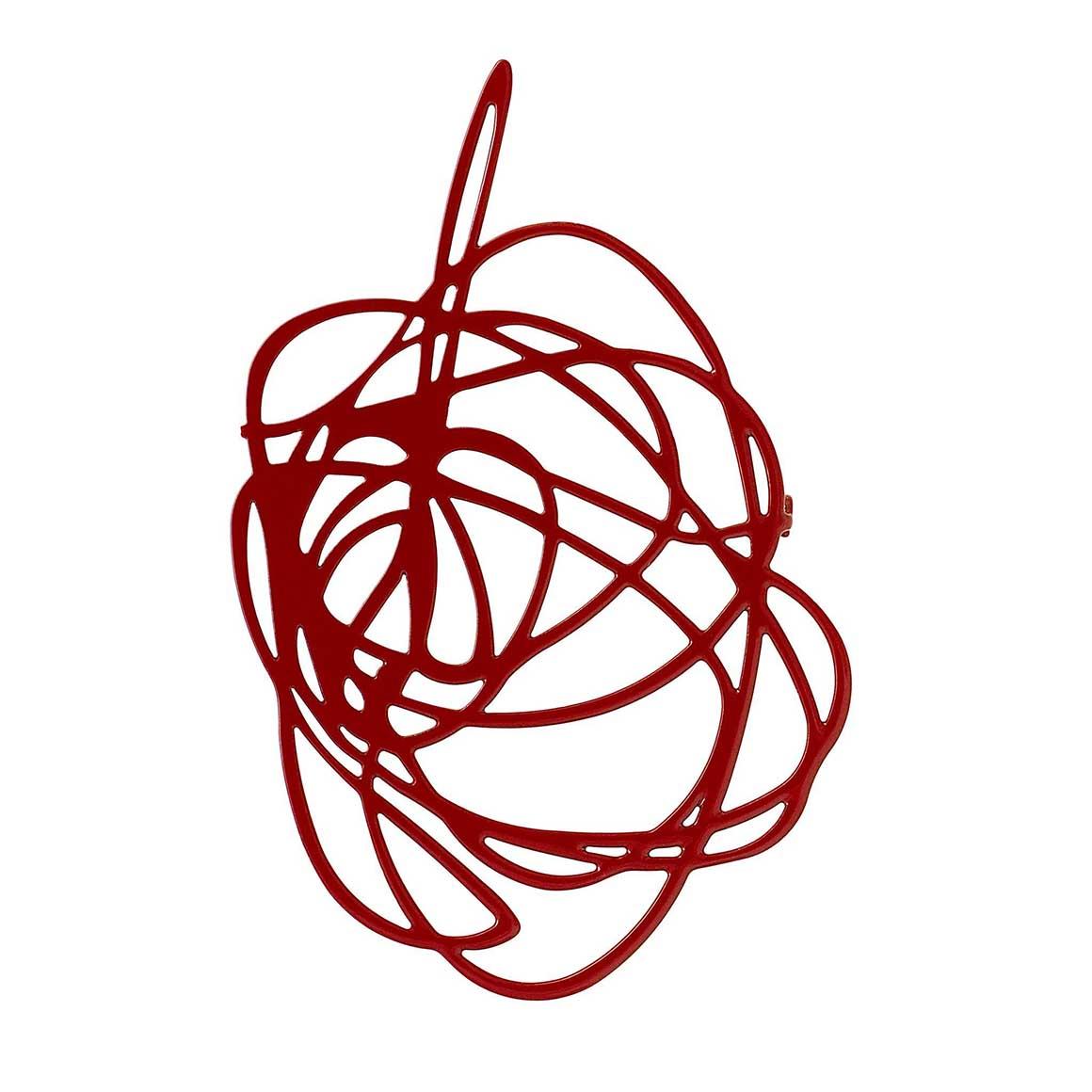 Brooch-Scribble-Claret | Trada Marketplace