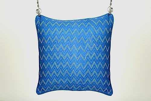 Ambar Indigo Embroidery Cushion | Trada Marketplace