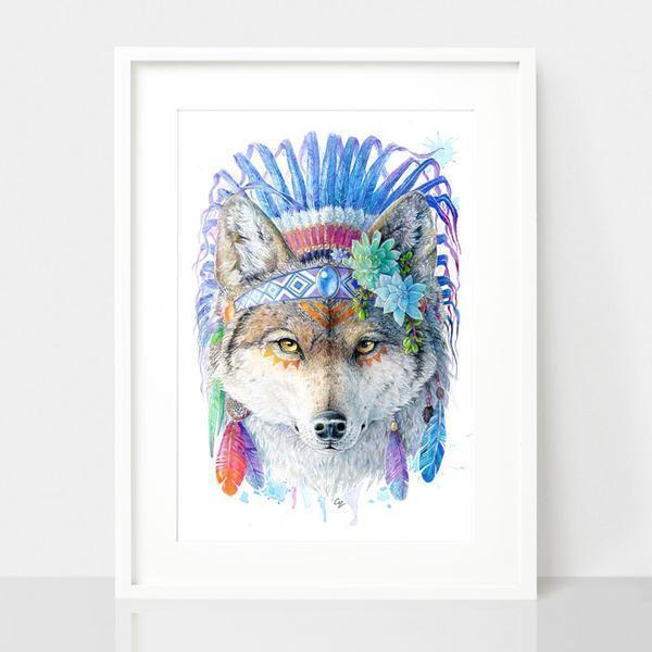 Wolf Print - Spirit Animal Series | Trada Marketplace