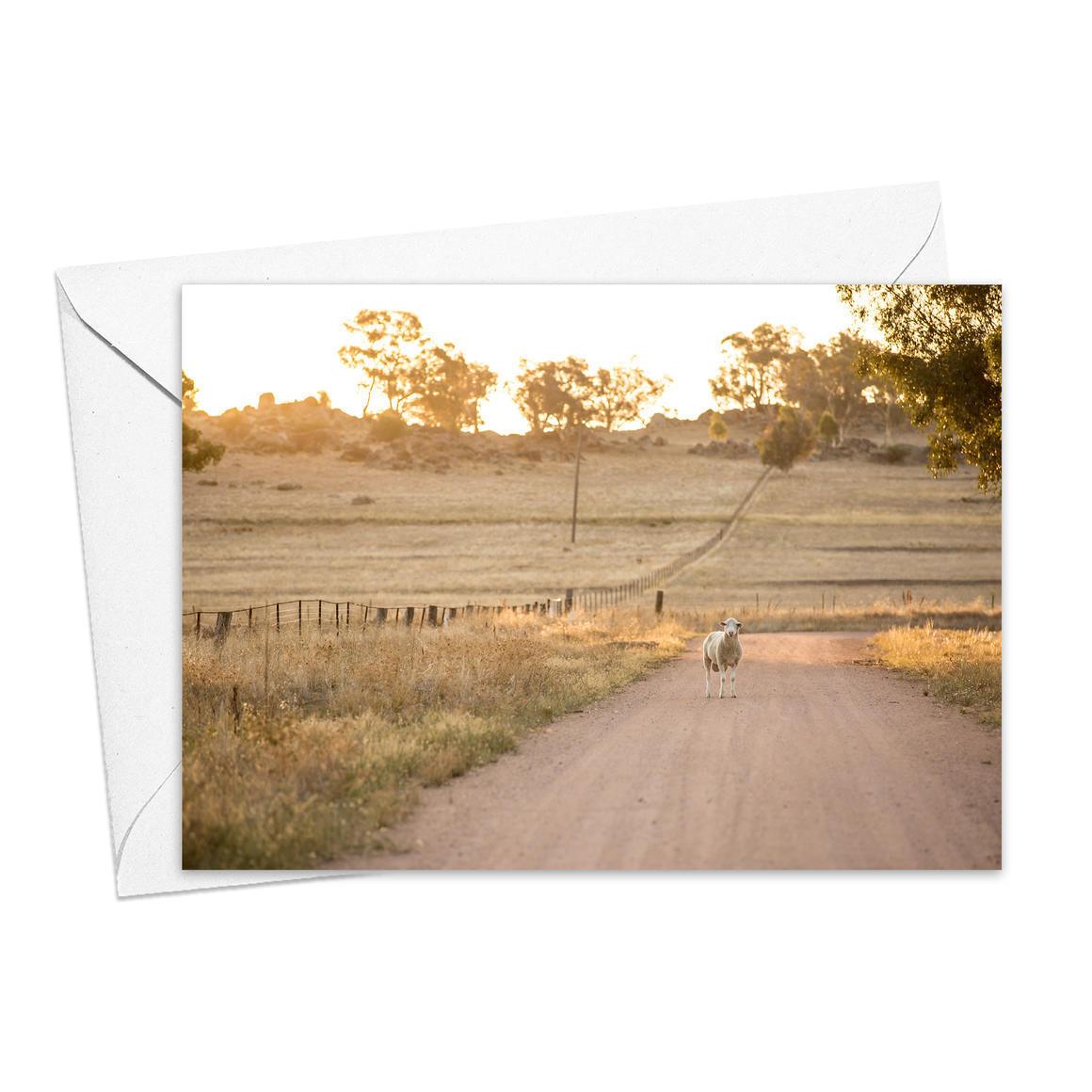 Mackey's Creek Road Greeting Card   Trada Marketplace