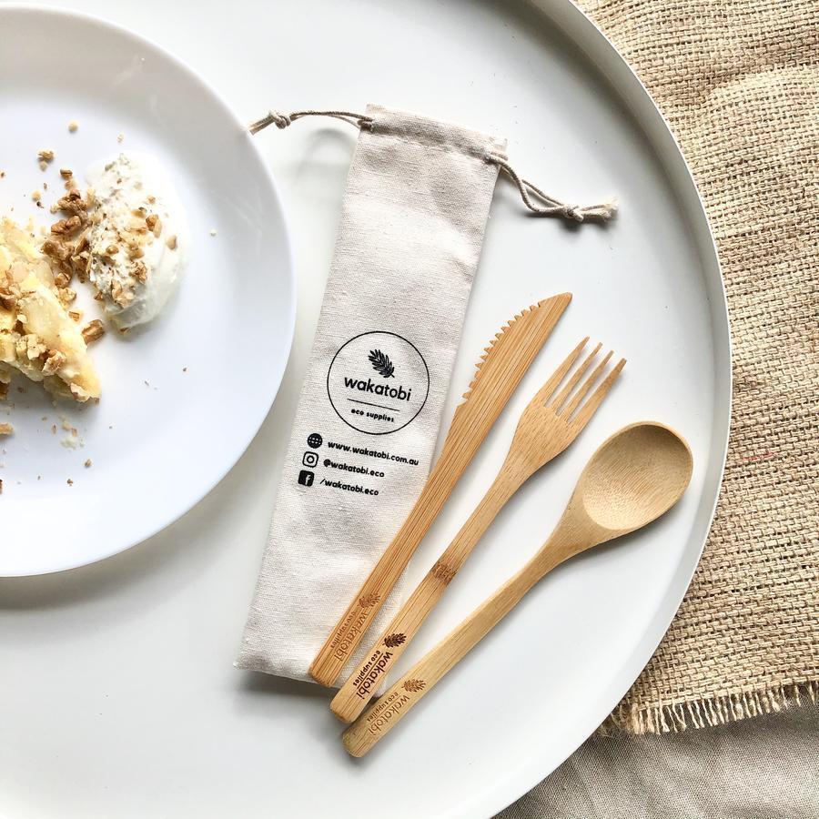Reusable Bamboo Cutlery Set   Trada Marketplace
