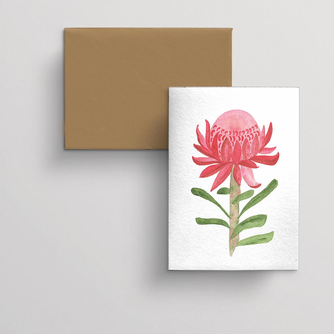 Greeting card single Waratah | Trada Marketplace