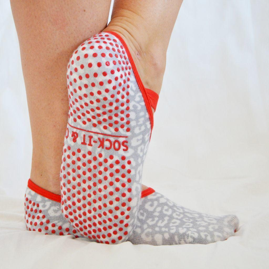 Snow Leopard Ballet Non-Slip Grip Socks | Trada Marketplace