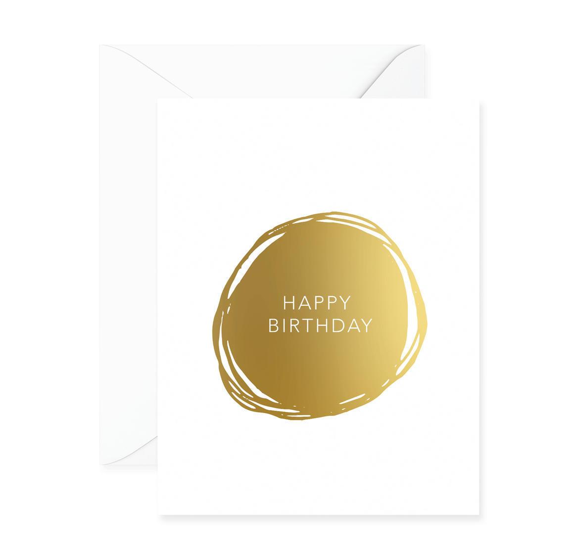 Happy Birthday Circle Greeting Card | Trada Marketplace