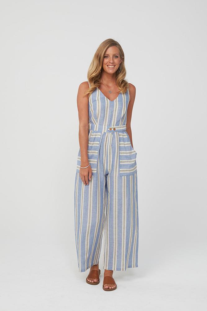 DERBY Jumpsuit | Blue Stripe | Trada Marketplace