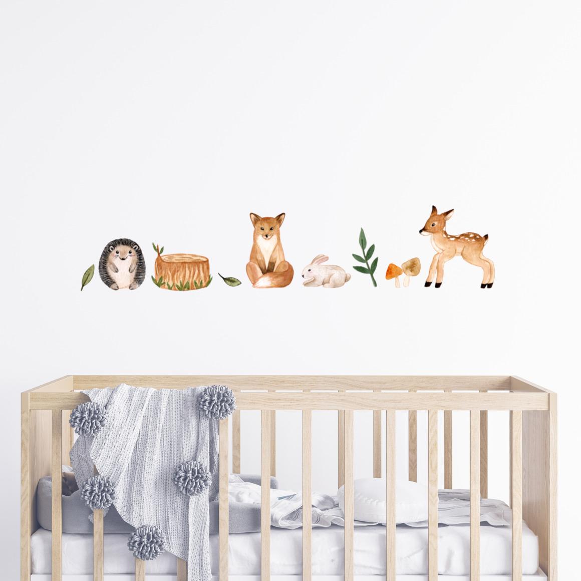Fabric wall decals - Woodland animals   Trada Marketplace