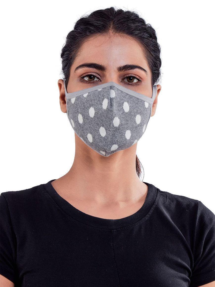 Polka-dots-jacquard-three-layer-cotton-womens-mask | Trada Marketplace