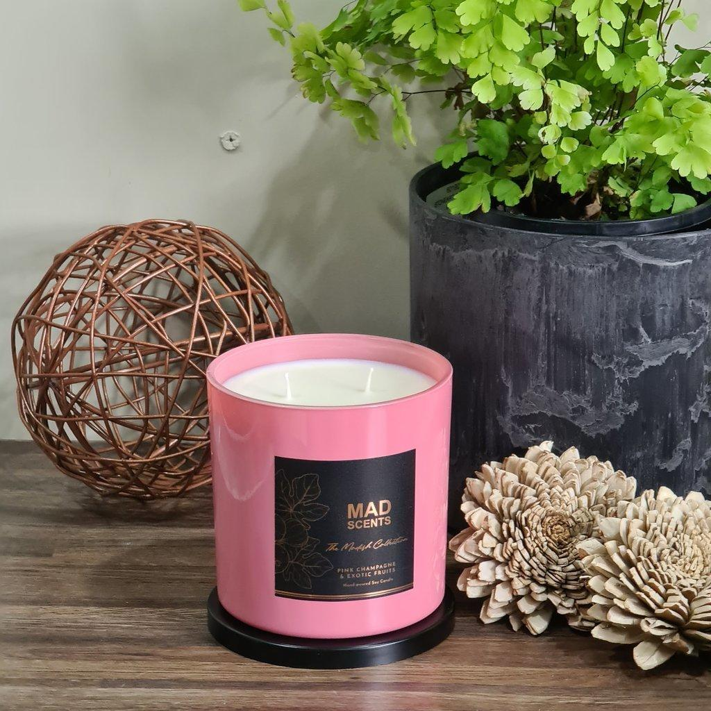 Pink Champagne & Exotic Fruits large Candle | Trada Marketplace