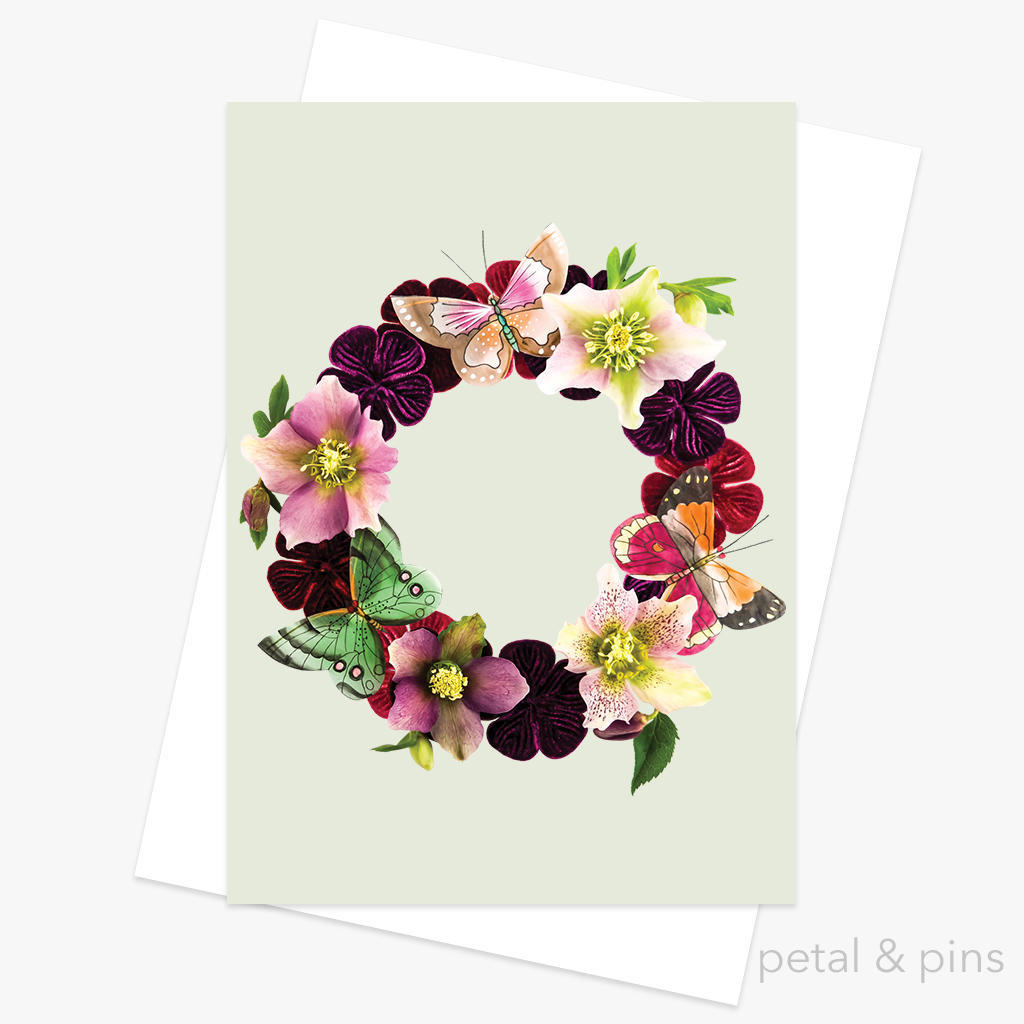 butterfly garland greeting card | Trada Marketplace