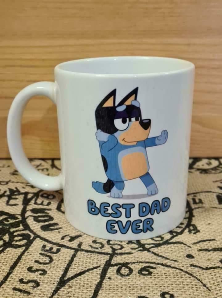 Bluey - Best Dad Ever 11 Oz Coffee Mug   Trada Marketplace