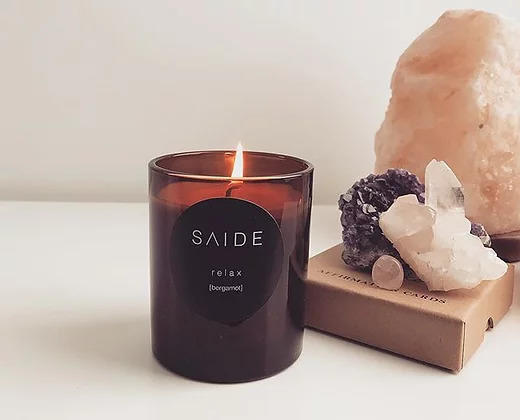 Saide Large Soy Candle [Zen Collection 100% Essential Oil] | Trada Marketplace