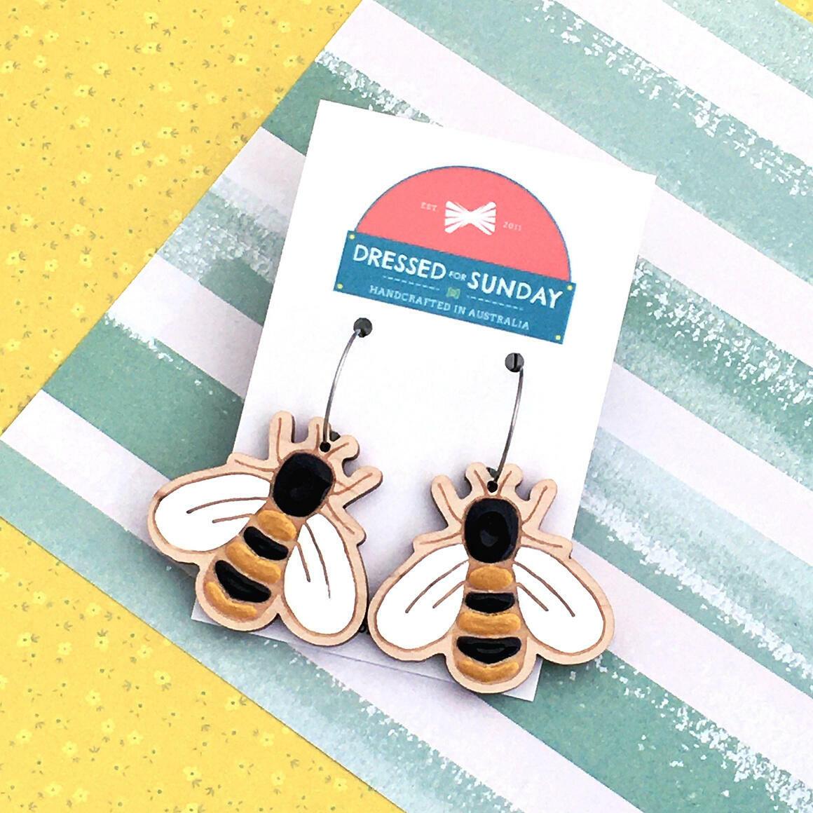 In the Garden Bee Earrings   Trada Marketplace