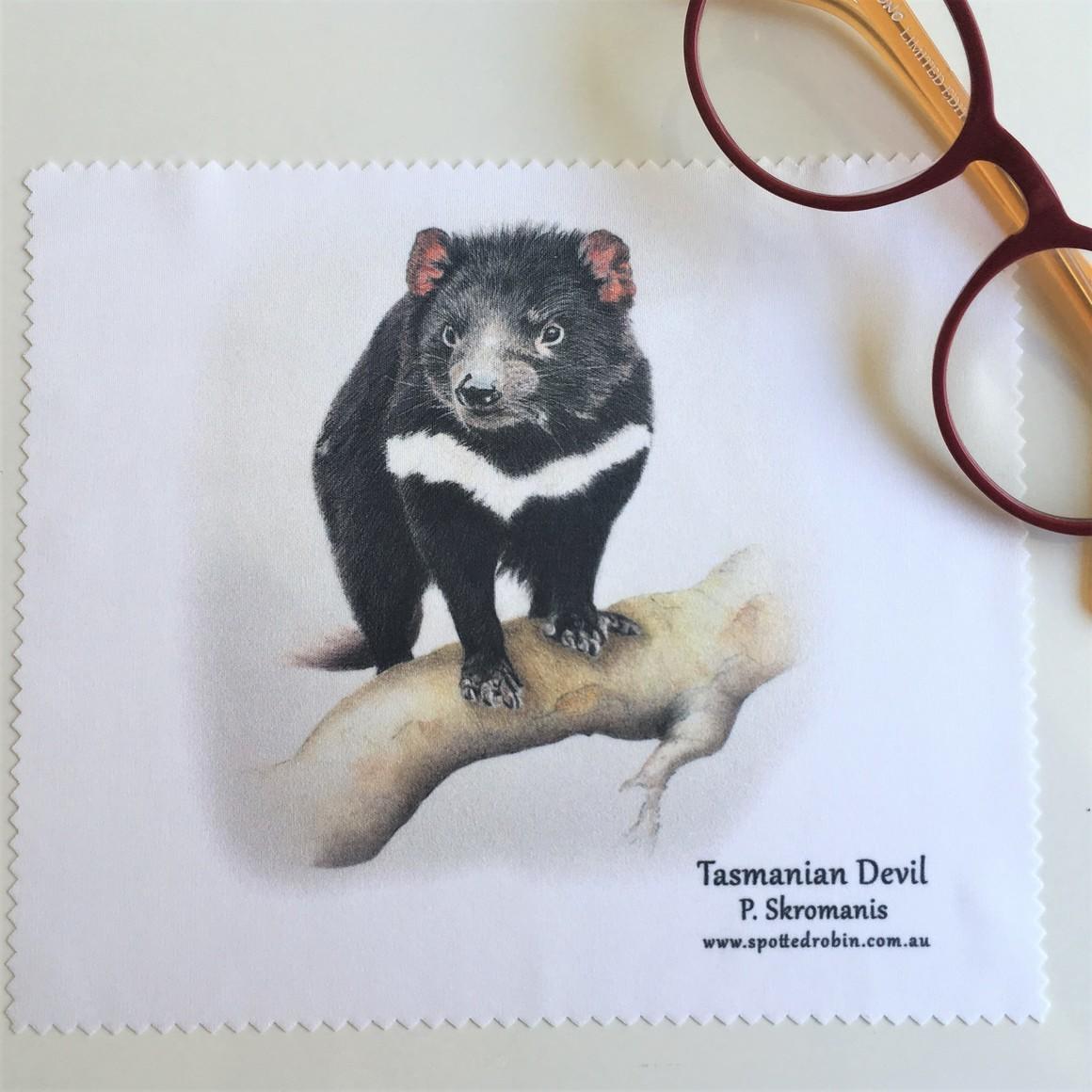 Microfibre Eyeglass Cleaning Cloth - Tasmanian Devil   Trada Marketplace