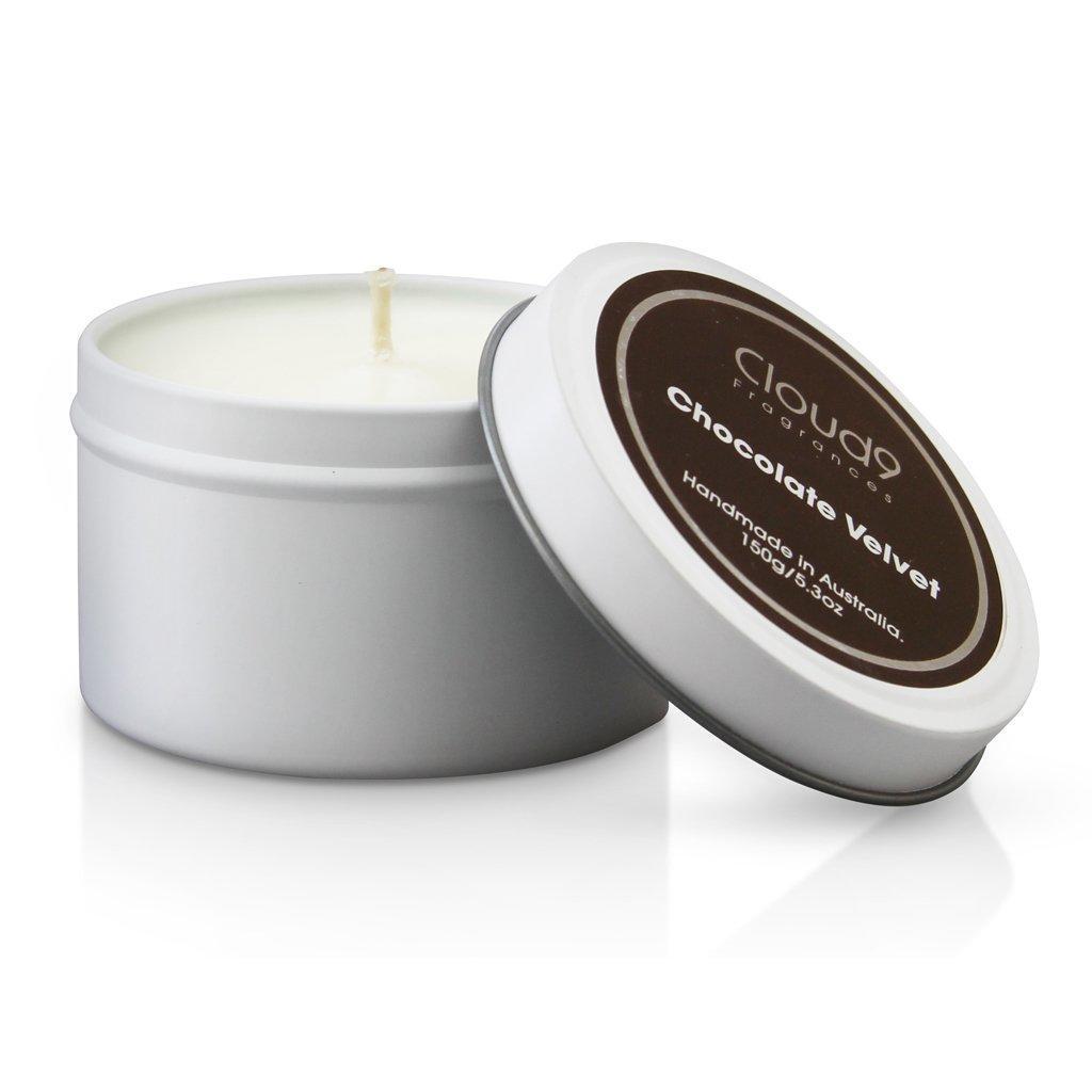 Chocolate Velvet Tin Candle | Trada Marketplace