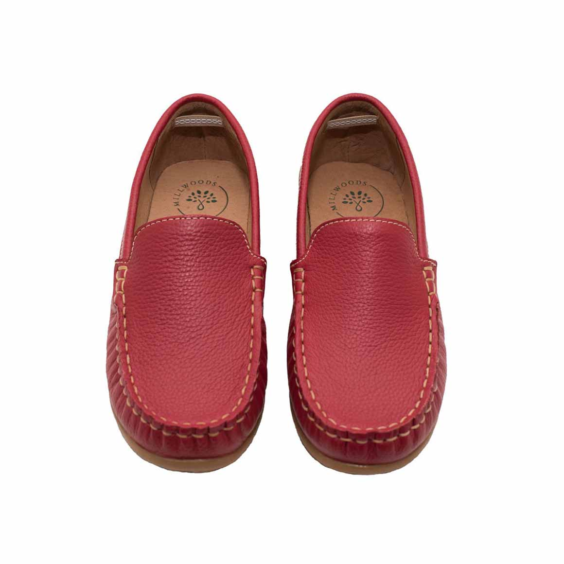 Red Leather Loafer - Children | Trada Marketplace