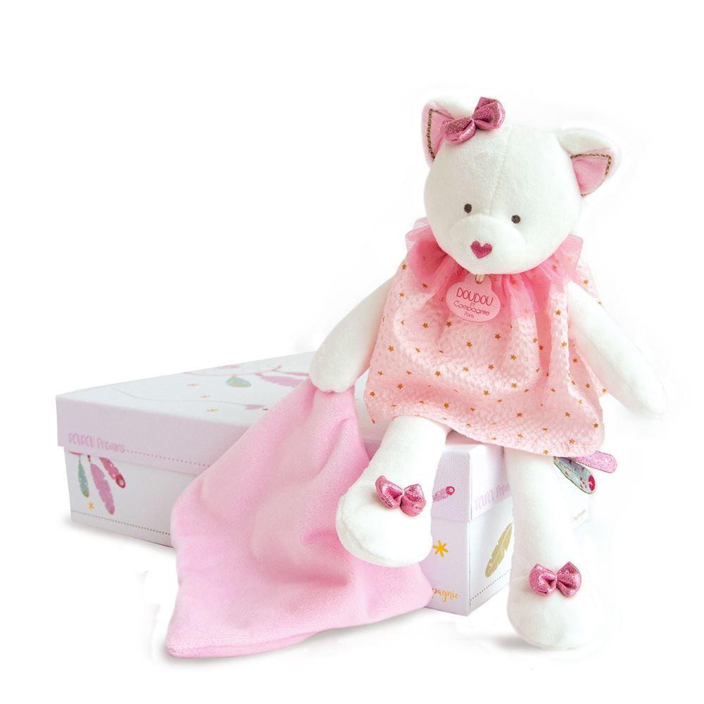 cat doll with doudou 28cm + gift box   Trada Marketplace