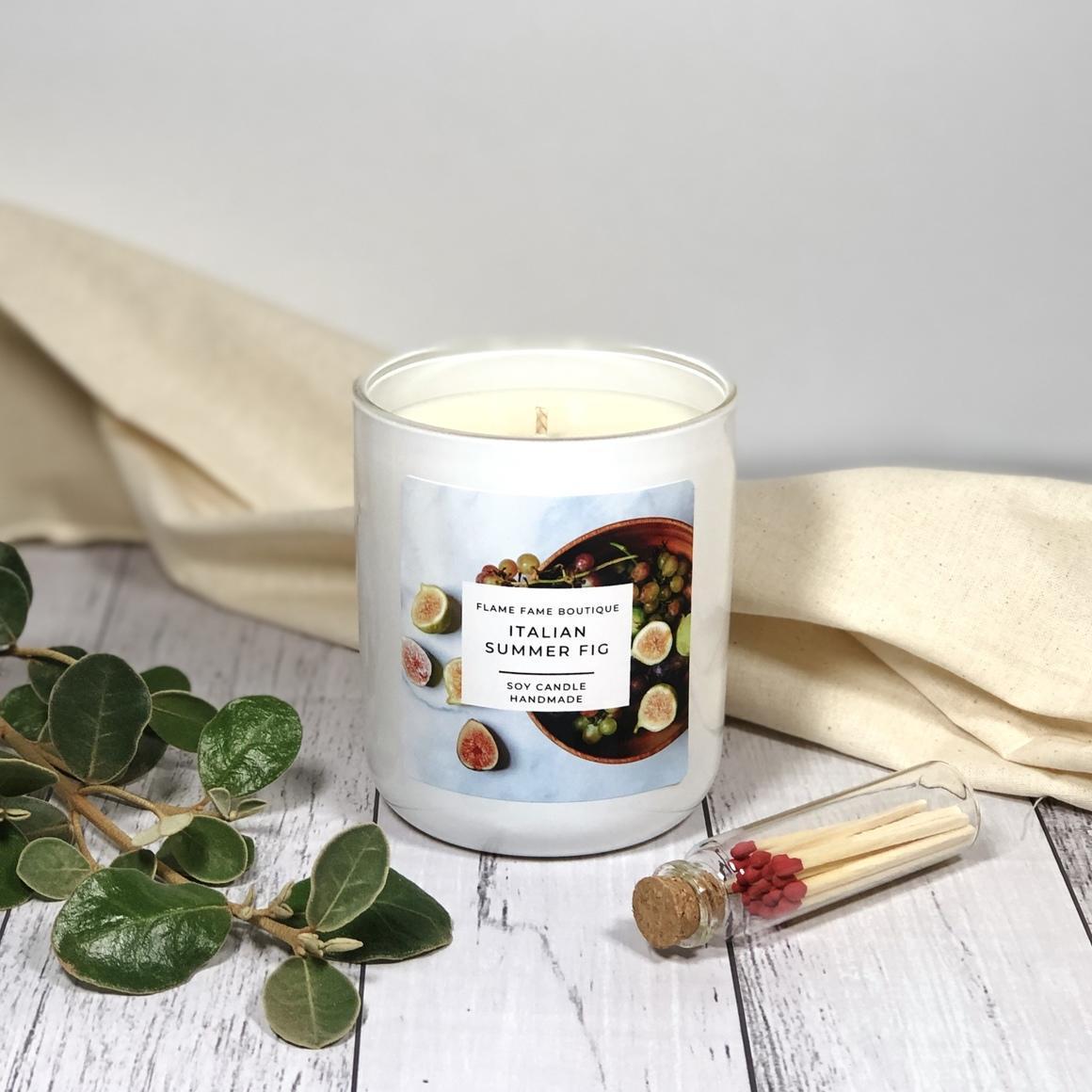 Italian Summer Fig Candle Jar   Trada Marketplace
