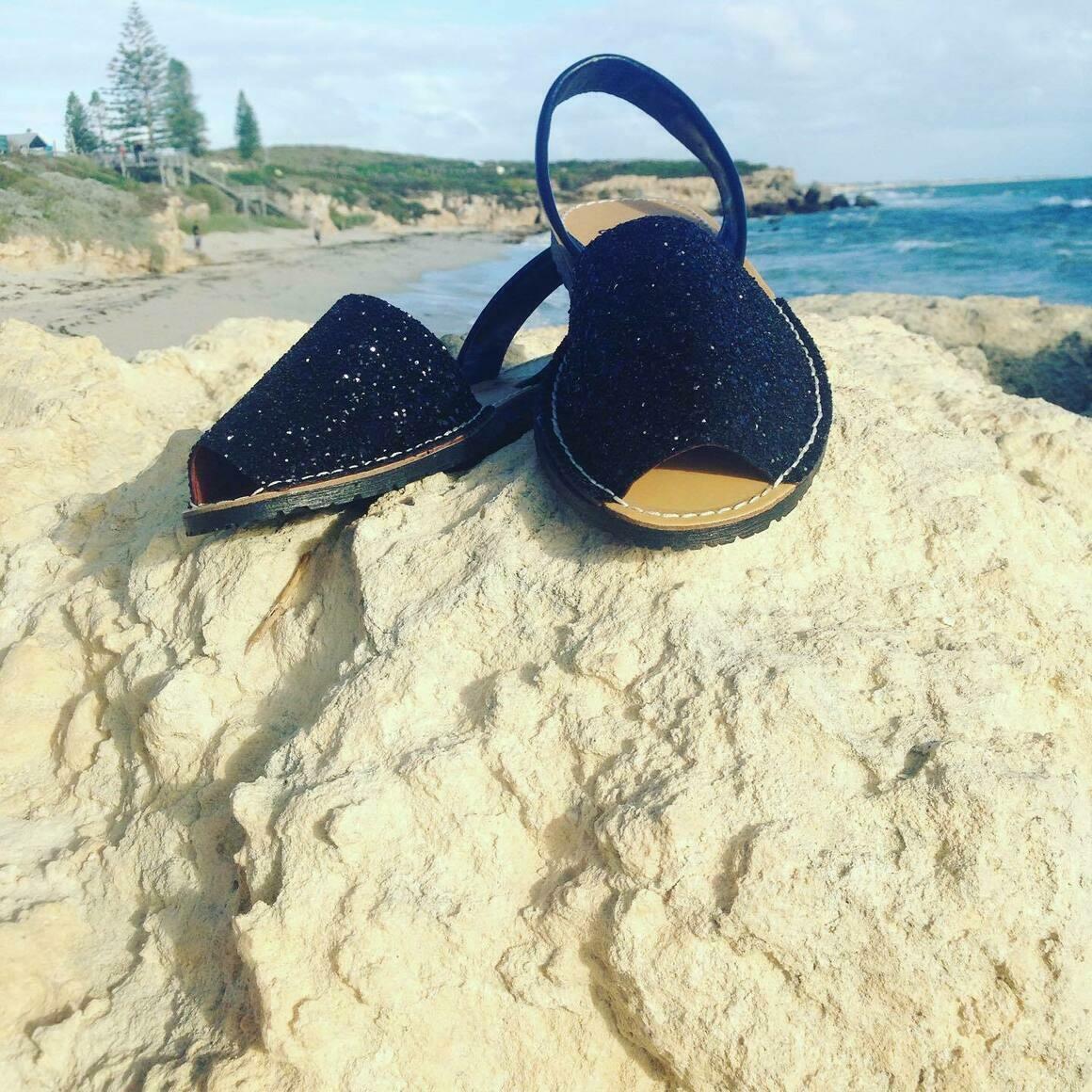Black Glitter Avarca | Trada Marketplace