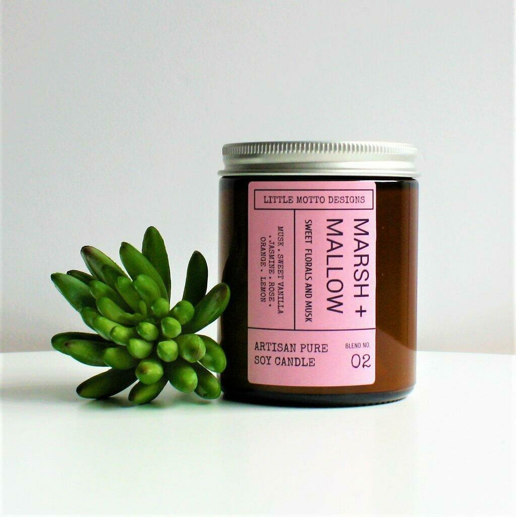 Amber Brights Boxed Soy Candle Jar - Marshmallow | Trada Marketplace