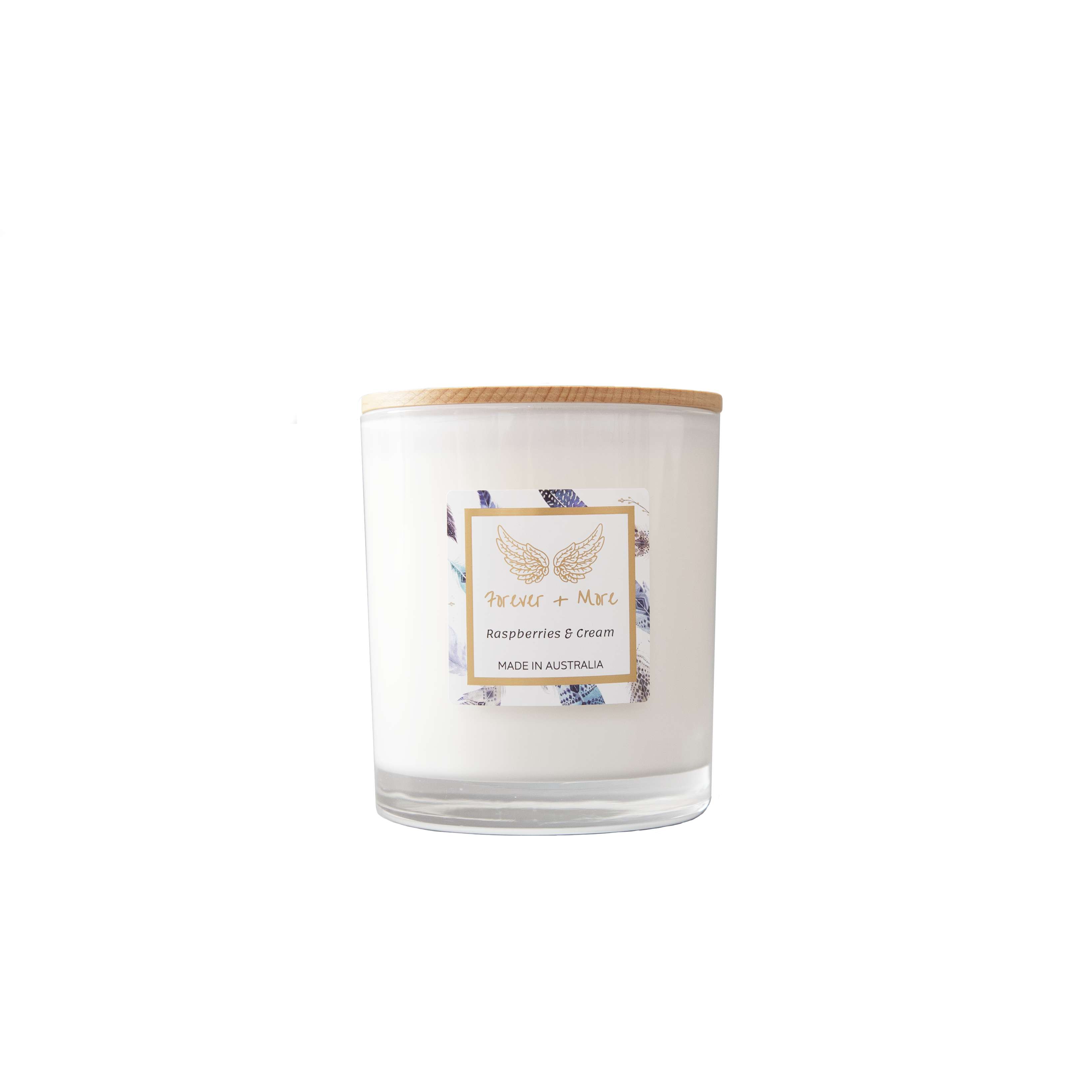 Large Soy Candle - Raspberries and Cream | Trada Marketplace
