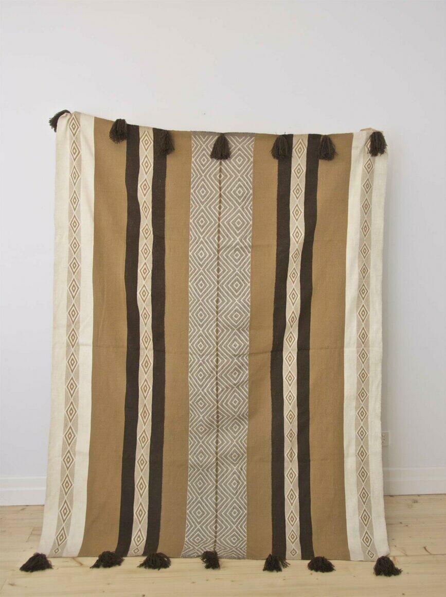 ALPACA THROW ANDEAN (backstrap loom, natural dyes) | Trada Marketplace