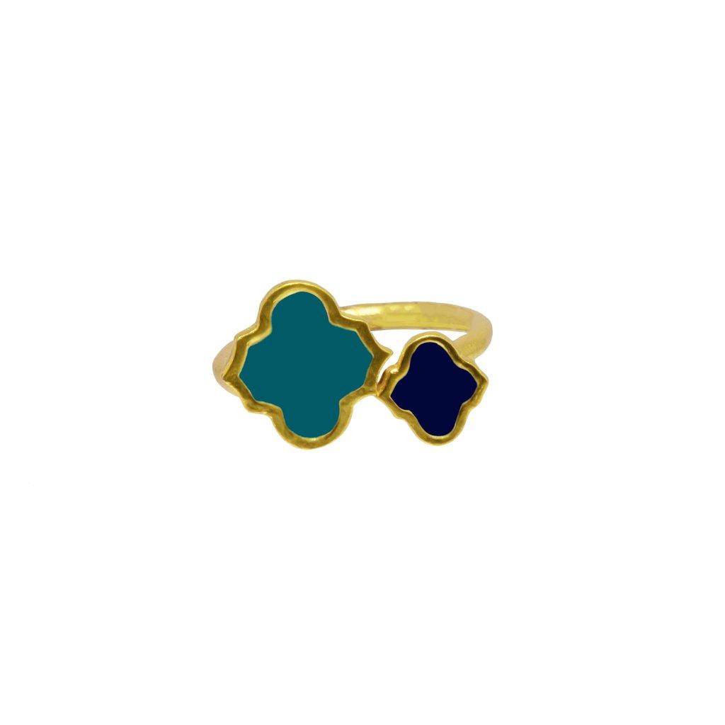 Arabesque Ring Navy /Turquoise   Trada Marketplace