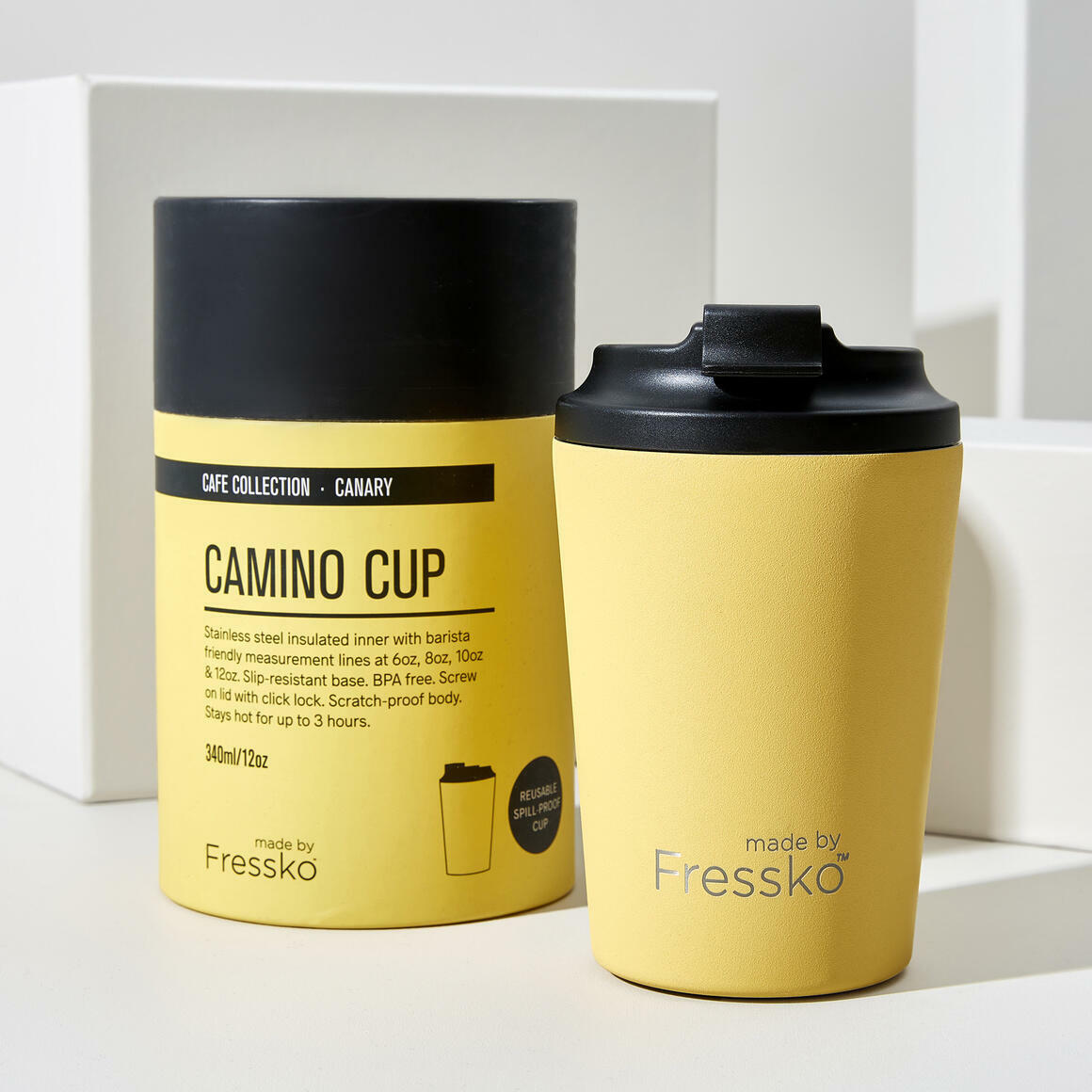 Fressko CAMINO Stainless Steel Reusable Cup YELLOW | Trada Marketplace