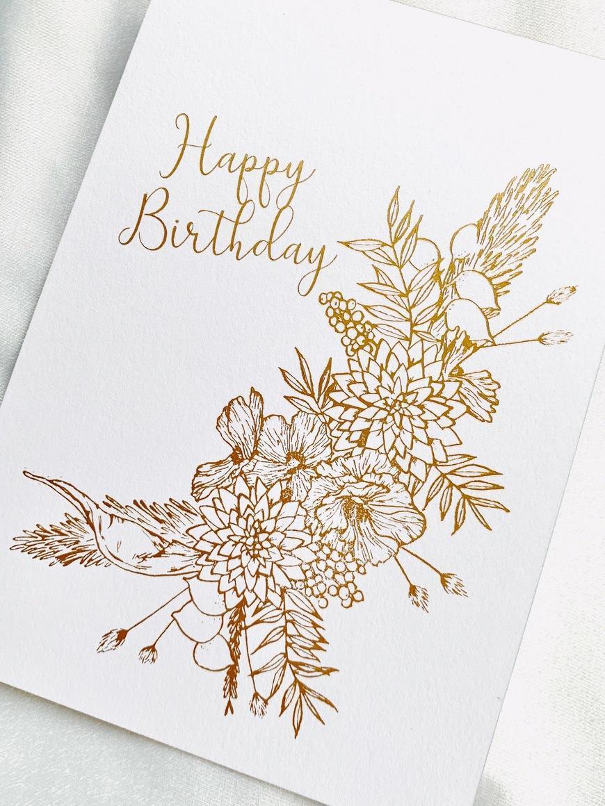 Floral Birthday Card   Trada Marketplace