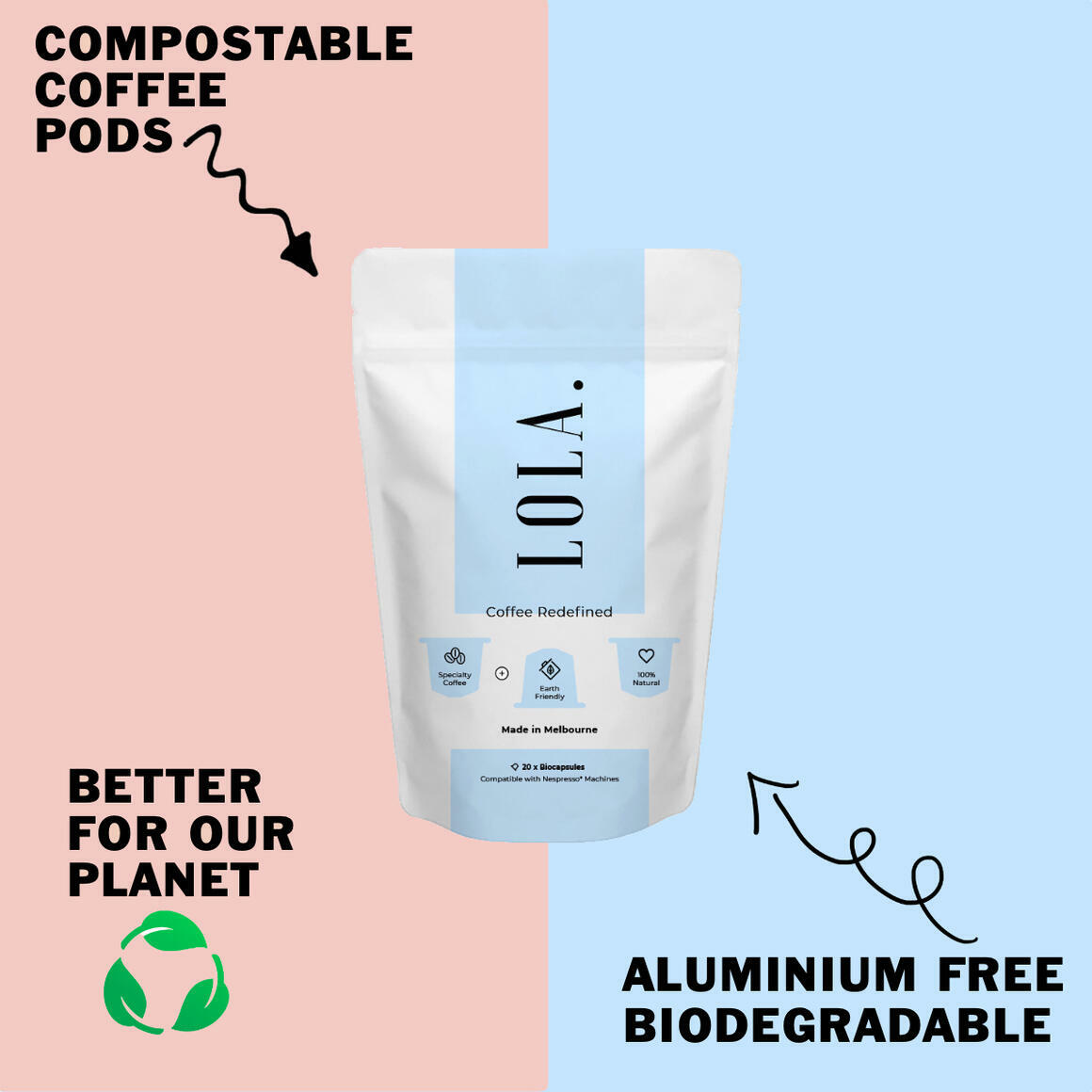 Lola Coffee Compostable Pods | Trada Marketplace