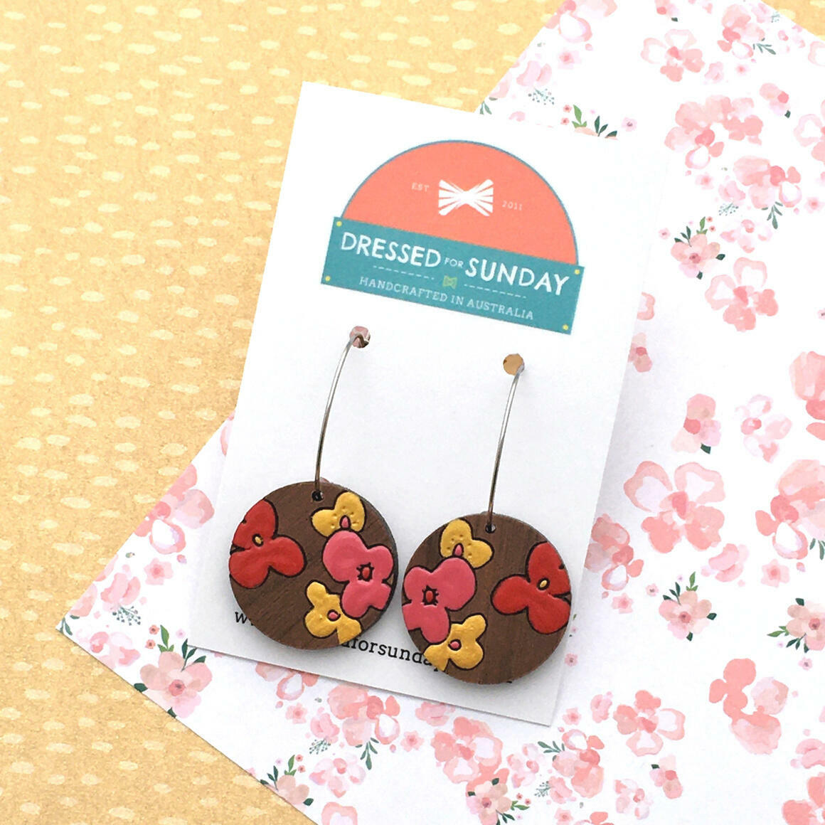 Blushing Hearts Hoop Earrings   Trada Marketplace