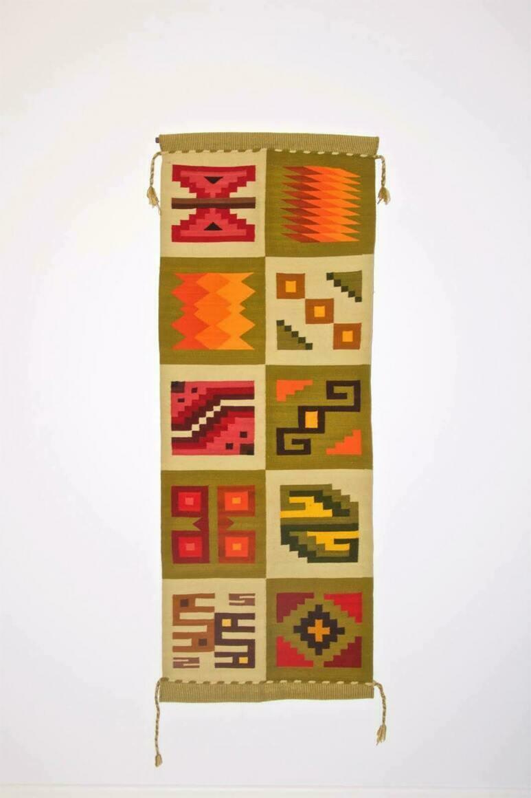 WALL HANGING TAPESTRY - Inca Calendar (handloom, natural dyes) | Trada Marketplace