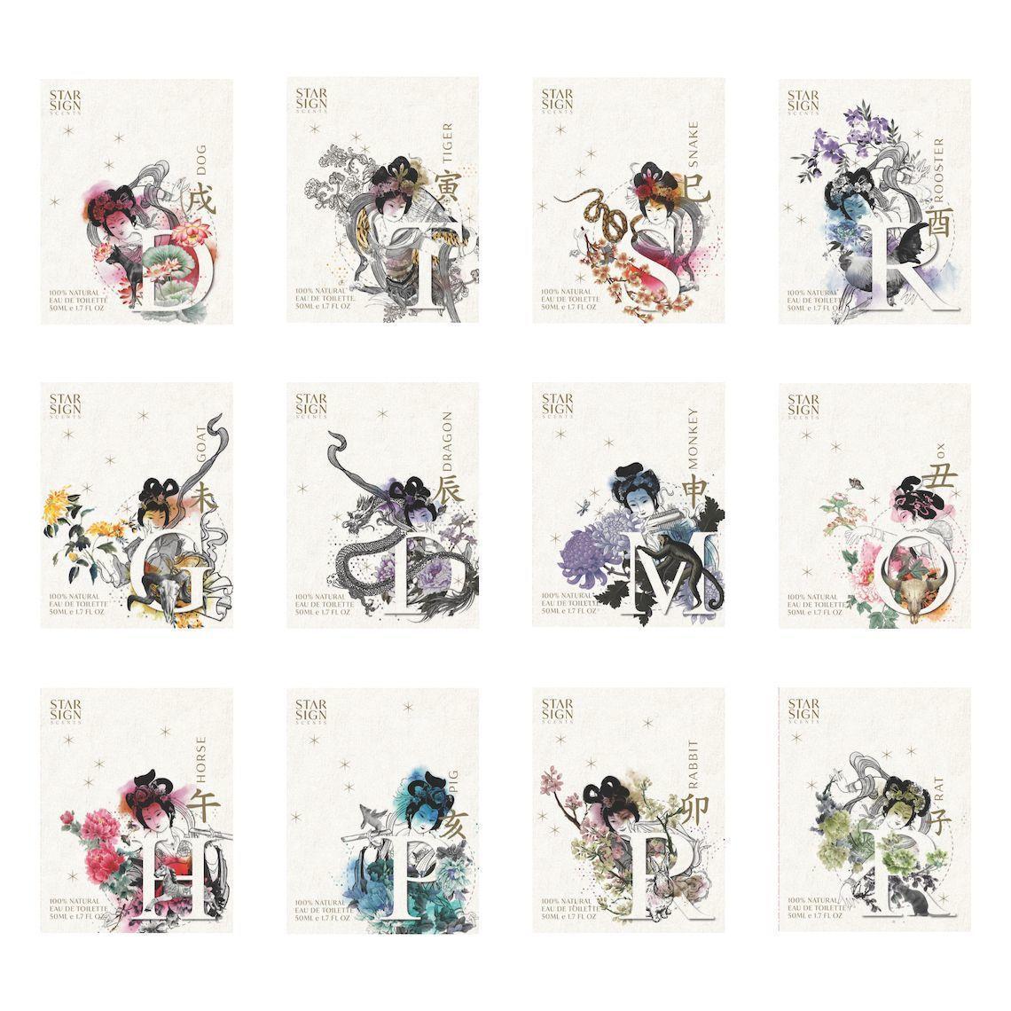 Chinese Astrology Unisex Perfumes Full Set | Trada Marketplace