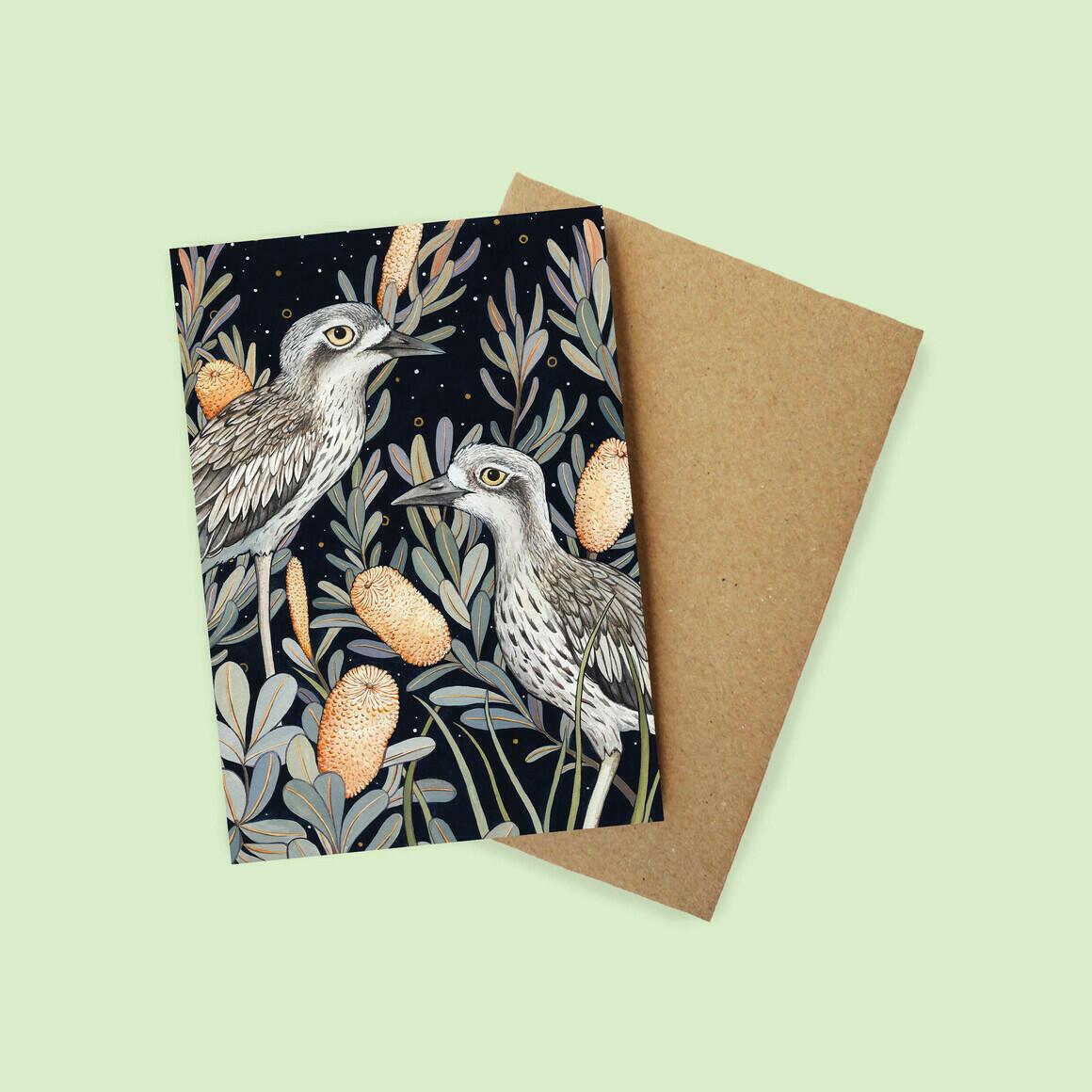Greeting Card - Bush Stone Curlew | Trada Marketplace
