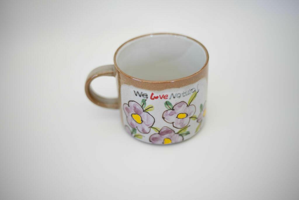We Love Natural Mug-Purple flower   Trada Marketplace