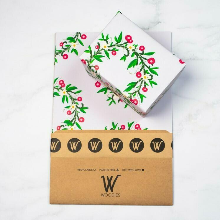 Woodies Wreath - Recycled Wrapping Paper | Trada Marketplace
