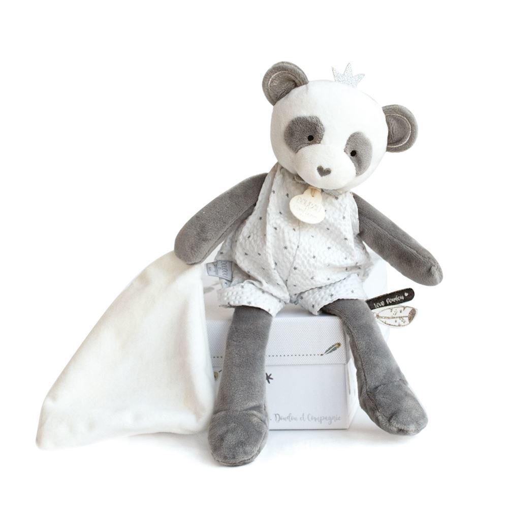 panda doll with doudou 28cm + gift box   Trada Marketplace