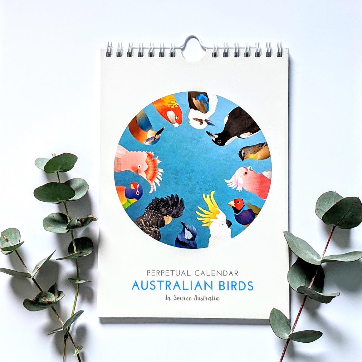 Australian Birds Perpetual Calendar   Trada Marketplace